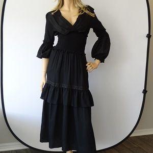 Max Studio Embroidered Slub Voile Dress NWT